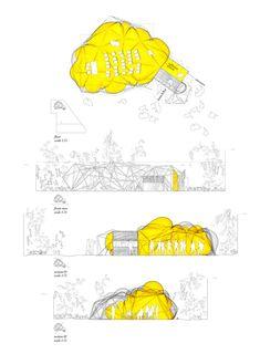 Blow-up es un cabaña, un cobertizo que se expande, es una pérgola espacial que crece en el contorno del jardín. Blow-up es ...