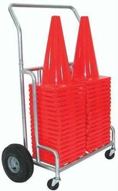 """Double EZ-Roll 12""""/18"""" Cone Cart"""