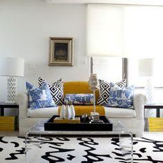 pillow arrangement  home office by Caitlin Wilson