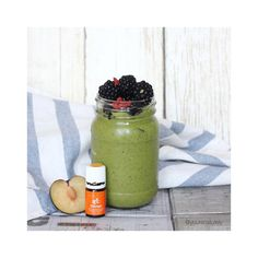 This public holiday's post-workout brunch calls for a soy-free dairy-free plant-based protein (by @vega_team) green smoothie topped with some plums, blackberries and gojis. Added a couple drops of Young Living orange oil too and it's sooo delish!  #bestlifeproject