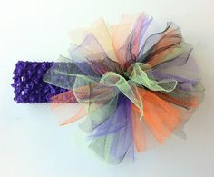 Halloween Tutu Headband by PinkCupcakeBowtique on Etsy, $8.00