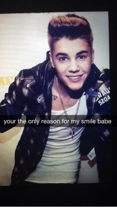 Your the only reason for my smile baby :)