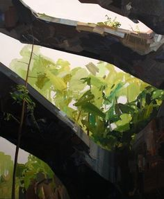 """Arches, 2009, Oil on canvas, 102 x 84""""  Claire Sherman"""