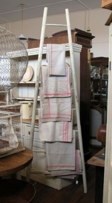 ladders and linens~available at American Home & Garden in Ventura CA
