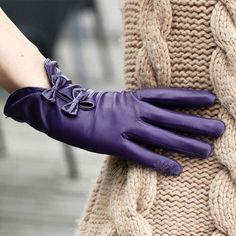 My favorite winter accessories, leather gloves. The bows are too cute!