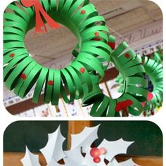 Craft for Christmas service project - paper wreaths