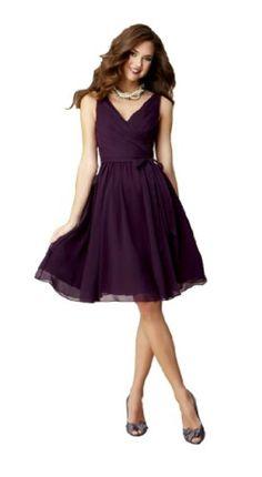 1929611276 Kennedy Blue Sleeveless Chloe Short V-Neck Chiffon Bridesmaid Dress (12