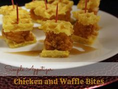 Simple Appetizer: Chicken and Waffle Bites **great for a #babyshower brunch!