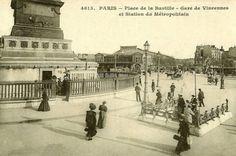 La place de la Bastille en 1900