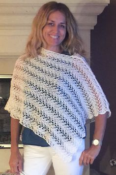 This fun and sassy poncho is perfect to wear on those chilly summer nights or indoors on a blustery day.