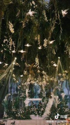 Forest Wedding Decorations, Wedding Theme Decoration Ideas, Forest Theme Weddings, Outdoor Wedding Theme, Whimsical Wedding Theme, Forest Wedding Venue, Natural Wedding Decor, Forest Decor, Outdoor Wedding Inspiration