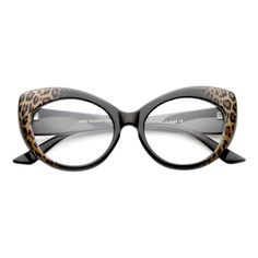 zeroUV - Mod Pointed Cat Eye Clear Fashion Frame Glasses Cheetah Clear 53 Mm for sale online Funky Glasses, Glasses Frames, Fashion Eye Glasses, Cat Eye Glasses, Pin Up, Sunglasses Women Designer, Round Eyeglasses, Cat Eye Frames, Natural Updo
