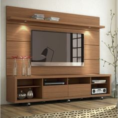 Julius entertainment center with led lights width of tv stand: Tv Unit Interior Design, Tv Unit Furniture Design, Modern Tv Room, Modern Tv Wall Units, Tv Unit Decor, Tv Wall Decor, Tv Cabinet Design, Tv Wall Design, Entertainment Center