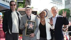 (L-R) Actors Leonard Nimoy, Walter Koenig, Nichelle Nichols and George Takei after Koenig was honored with a star on the Hollywood Walk of Fame on Sept. 2012 in Hollywood, California. Leonard Nimoy, Star Trek, Hollywood Walk Of Fame, In Hollywood, Hollywood California, Nichelle Nichols, Starship Enterprise, The Final Frontier