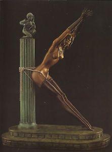 Gorgeous Erte Art Deco Bronze Sculpture Prisoner of Love Signed Original Erotic   eBay