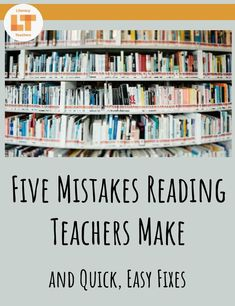 Teaching reading to middle and high school students can be extra tough. Read on to learn five common mistakes that teachers make when teaching reading and what to do instead. Reading Resources, Reading Skills, Teaching Reading, Learning, High School Reading, 2nd Grade Reading, Teaching Strategies, Teaching Tips, Reading Intervention