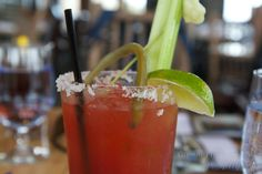 The famous Canadian Caesar at the Eagles Nest – the highest restaurant in Golden at 4,000 ft.
