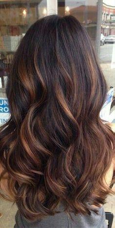 Brunette W/ Caramel Highlights