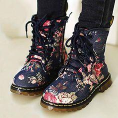 zapatos de niña botas planas de algodón talón de los zapatos más colores disponibles – MXN $ 335.88