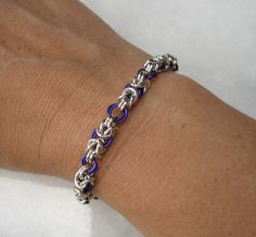 Purple Byzantine bracelet by Redcrow at Corvus Chainmaille, via Flickr
