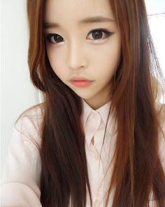 Image de ulzzang, korean, and song ah ri Korean Makeup Tips, Asian Makeup, Korean Beauty, Asian Beauty, Cute Makeup, Beauty Makeup, Makeup Looks, Ulzzang Fashion, Ulzzang Girl