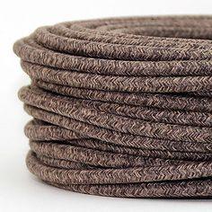 Textilkabel Le круглый провод в оплетке лён натуральный цвет шнура