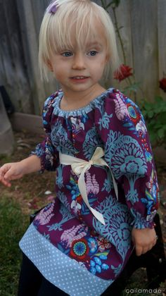 Caila-Made: Long-Sleeved Peasant Dress {tutorial} and Figgy's Giveaway!  SO PRETTY!!!
