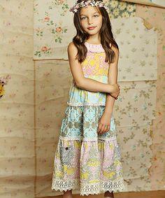 Pink & Blue Jolie Maxi Dress - Infant, Toddler & Girls #zulily #zulilyfinds