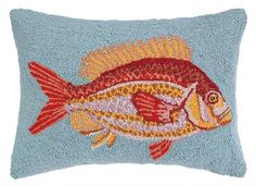 Speckled Rock Fish Blue Hook Pillow