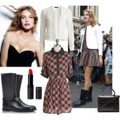 A fashion look from October 2014 featuring VILA blazers, Sloosh boots and Yves Saint Laurent handbags. Browse and shop related looks.