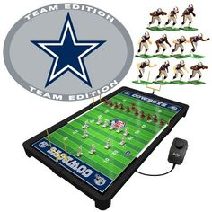 Tudor Games NFL Electric Football Game - Dallas Cowboys Football Formations, Dallas Cowboys Gear, Football Challenges, Nfl Pro Bowl, Electric Football, Cardinals Nfl, The Blitz, Nfl Packers, Toss Game