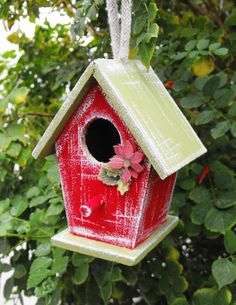 Hey, I found this really awesome Etsy listing at https://www.etsy.com/listing/169954006/christmas-bird-house-ornament