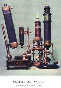 binocular microscope   designed by Père Chérubin of Orléans, a Milanese microscope dated 1755, a mid 18th century unsigned German simple microscope by Meyen,   an 18th century Dutch (?) microscope and an 17-18th century microscope.
