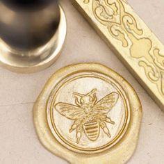 Honey Bee Wax Seal Kit | Gold Sealing Wax | Gardener Gift