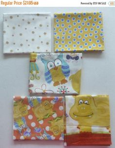 Clearance SALE Cotton Fabric,Quilt,Craft~Children's Fat Quarter Bundle of 5~ Group #4~Fast Shipping FQ273
