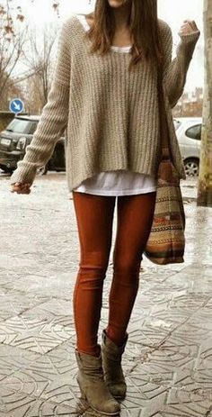 #winter #fashion / casual knit