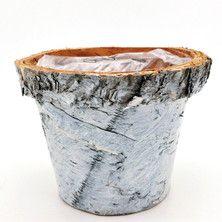 Pot avec rebord écorce bouleau