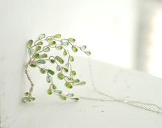 amazing willow tree made from paper and silver wire - this shop has a lot of nice paper and wire jewelry