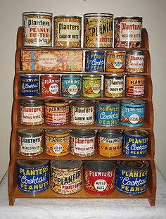 RARE Canadian 1940's Planters Peanut Wooden Salesman's Display Stand Mr. Peanut