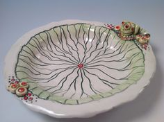 Frog bowl/frog dish/serving dish/pottery bowl/frog art/frog king/handmade pottery/jewelry bowl by joycepottery on Etsy