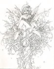 Image result for Fairy Coloring Pages for Adults