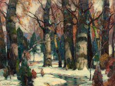 John Fabian Carlson, Swedish-born American artist (1874–1945), Snowy Forest