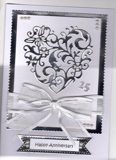 Silver Anniversary card by sue elvin