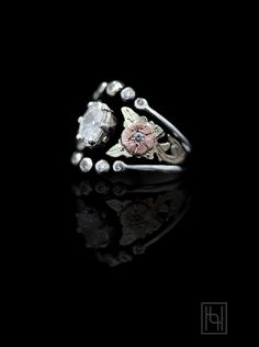 Emerging from shadows of black, colorful blooms grow to a sparkling stone in the Shadowy Rose & Oval Crystal Ring. Enjoy the distinct style of Hyo Silver. Western Wedding Rings, Western Rings, Silver Engagement Rings, Ring Engagement, Anniversary Rings, Round Cut Diamond, Class Ring, Sterling Silver Rings, Women Jewelry