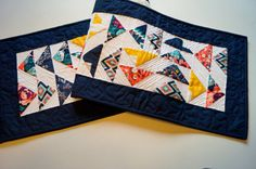 Quilted Patchwork Table Runner or Wall Hanging by MyBitOfWonder