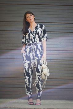 @roressclothes clothing ideas #women fashion Floral Jumpsuit Romper: