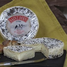 Tremblaye St. Foin Sage is a wonderful Brie-like cow's milk cheese made with pasteurized milk and a layer of sage which is added in the aging.  Produced at an organic dairy southwest of Paris, it is soft, ripe, buttery and fungal and satisfying in every way.