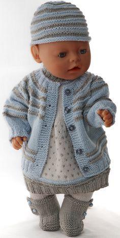 dc9d75a539d86a baby born poppenkleertjes - Schitterend truitje en jurkje in prachtige  kleuren Gebreide Babykleertjes