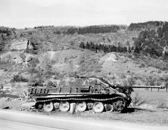 https://flic.kr/p/faJ6Te | Panzerjäger für 8,8 cm PaK 43/3 auf Fgst. Panther (Sd.Kfz. 173) | Un Jagdpanther détruit début 1945. L'incendie a fait s'affaisser le chasseur de char.  Courtesy of Photos oregonduck2988 (on eBay)