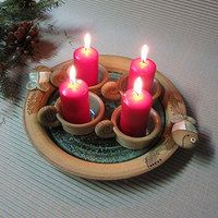 Handmade Ornaments, Birthday Candles, Nativity, Candle Holders, Pottery, Clay, Sculpture, Texture, Christmas